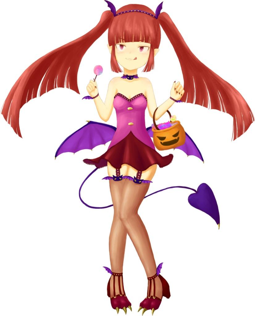ハロウィン風悪魔っ娘(表情33種)