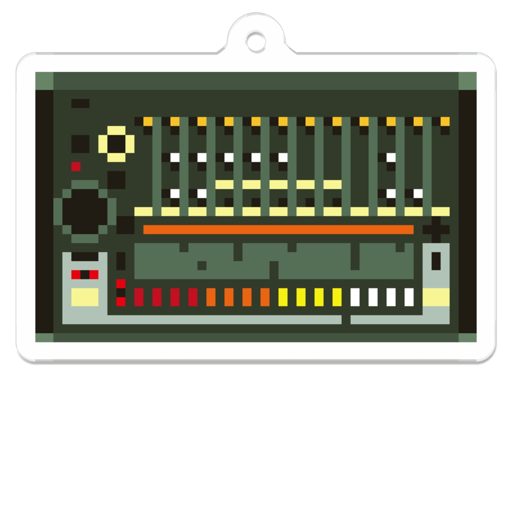 ドット絵 808 ドラムマシン キーホルダー