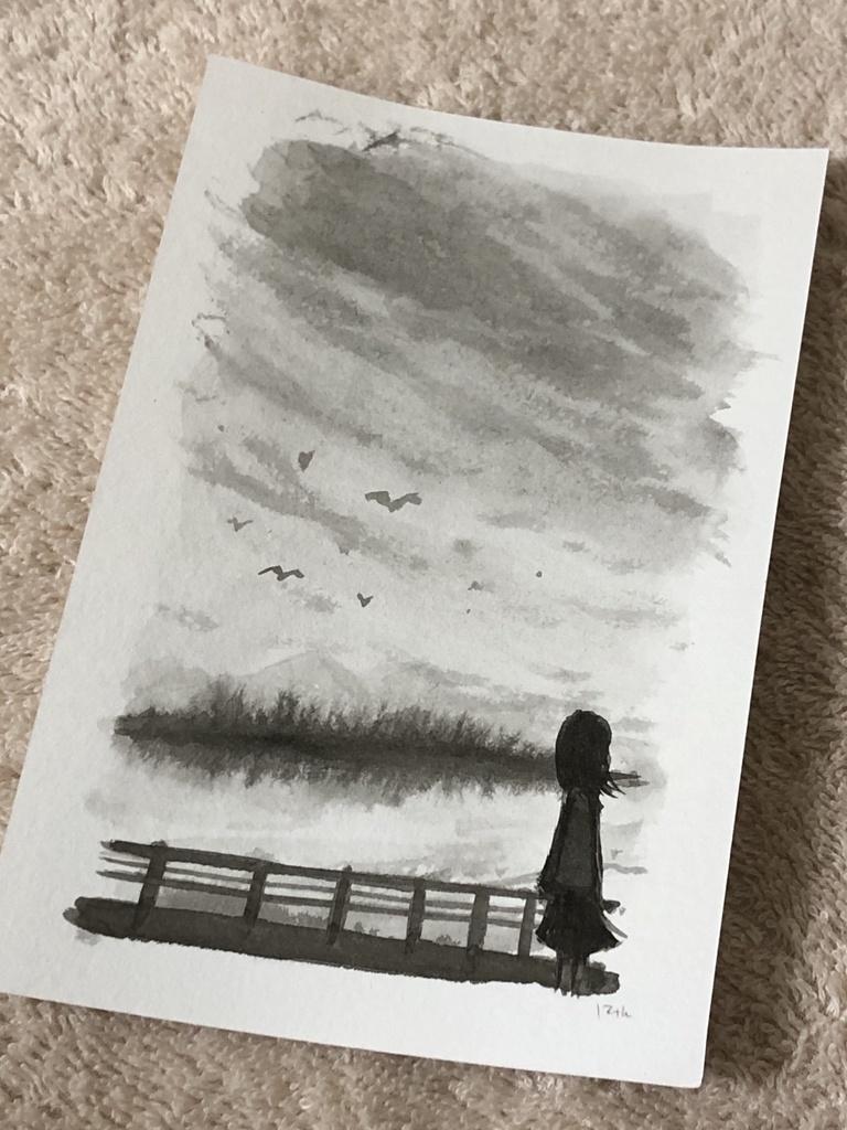 原画「秋空」