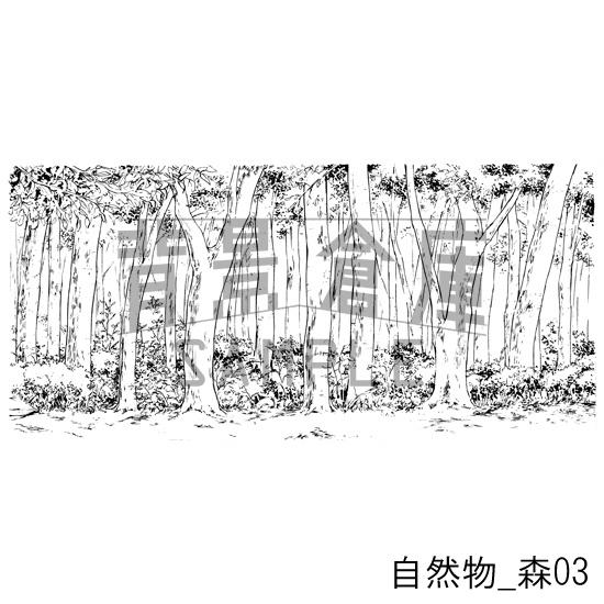 自然物の背景_森03