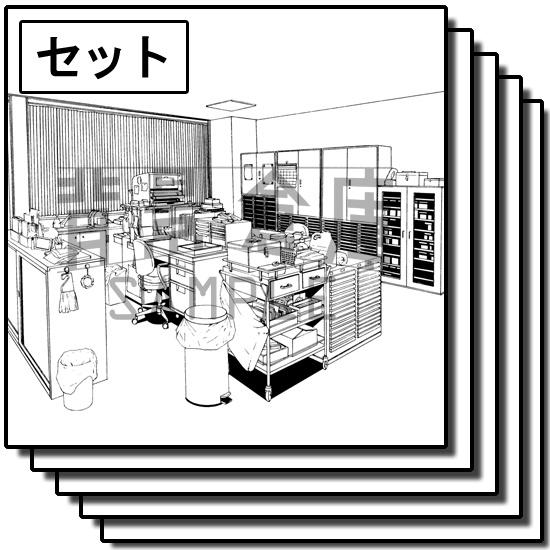 学校の背景_保健室セット