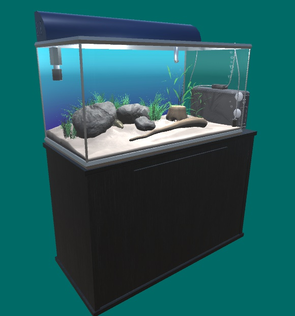 オリジナル3Dモデル「アクアリウム」