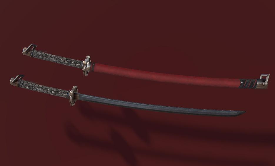 VRChat向けオリジナル3Dモデル「大太刀」