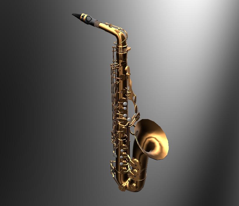 VRChat向けオリジナル3Dモデル「saxophone」