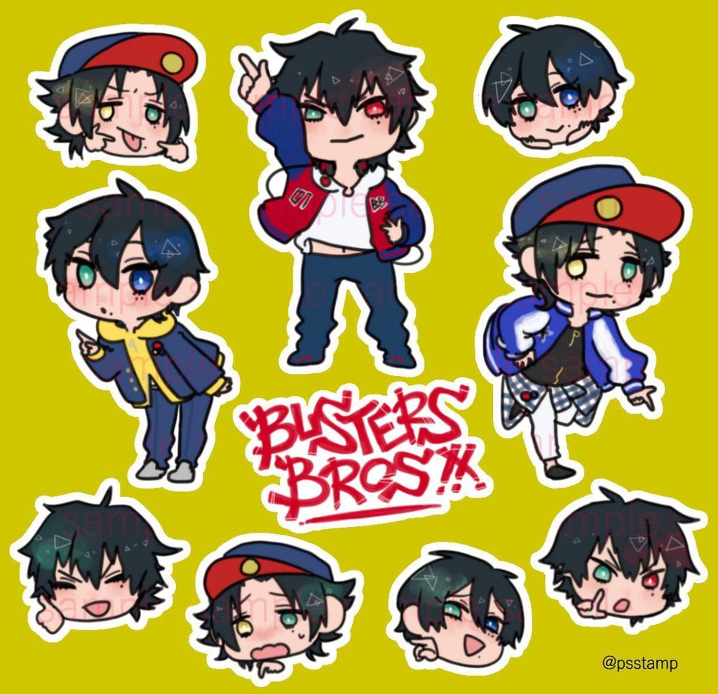 Buster Bros!!マステ風手帳シール