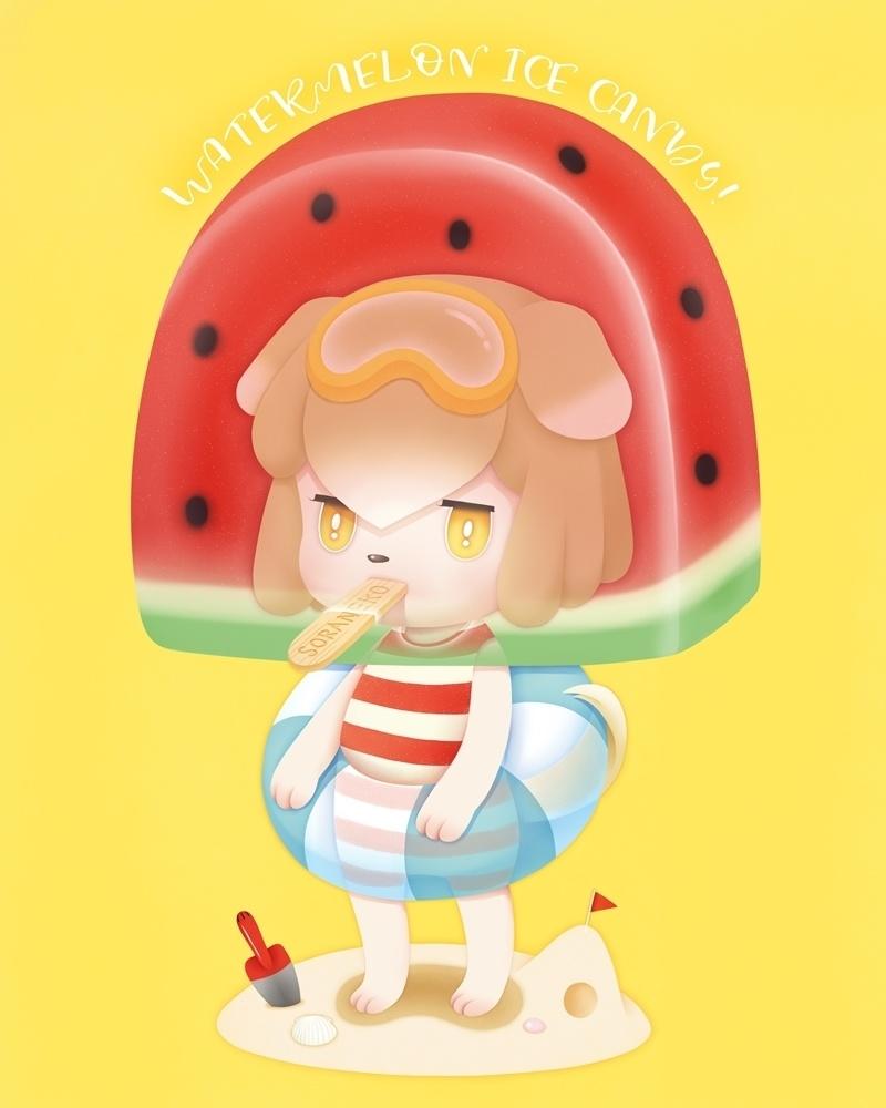 Watermelon Ice Candy! デジタルアート