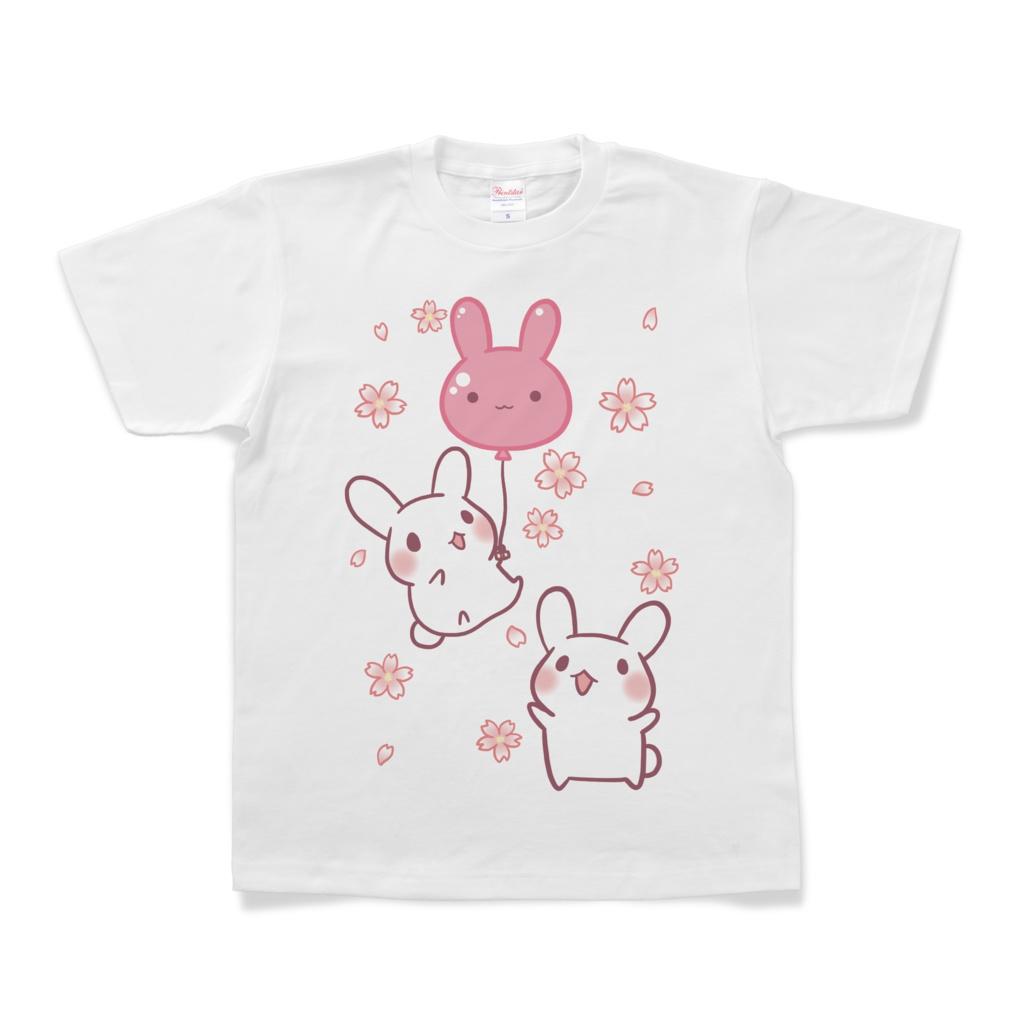 うさぎTシャツ(バルーン)