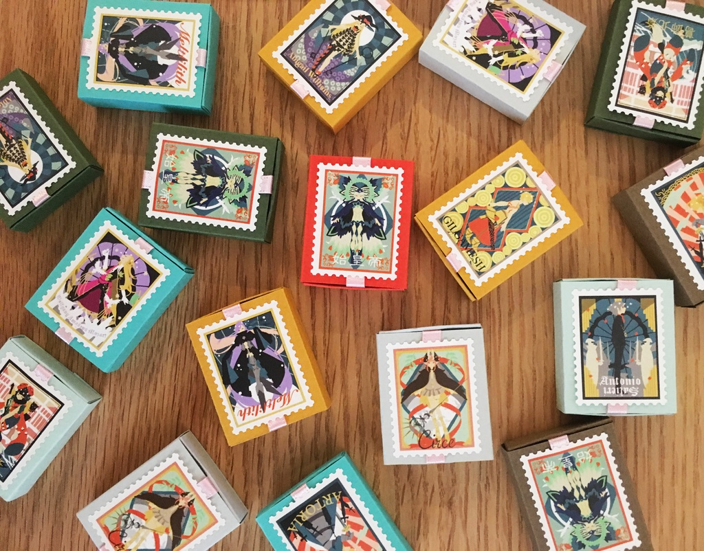 【FGO】切手風シール(20枚set)