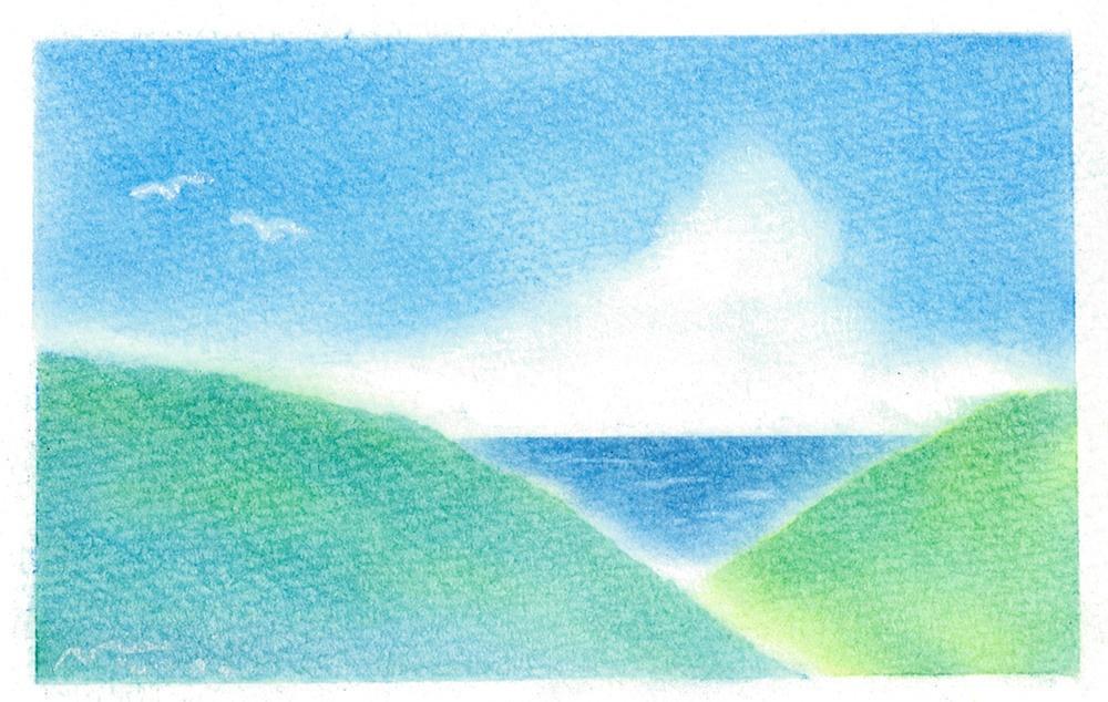 072海の見える風景画★★