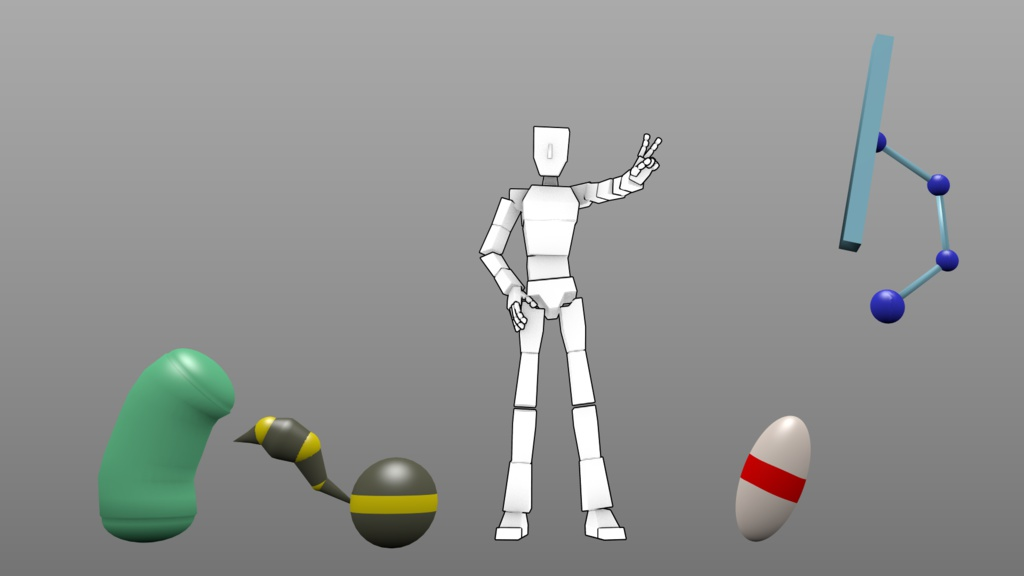 Blenderアニメーション練習用:自作.blendデータ詰め合わせ