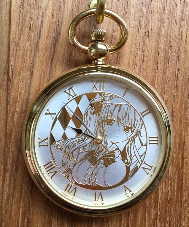 【頒布終了】オリジナル懐中時計/夏デザイン「mika」(特製BOX仕様)