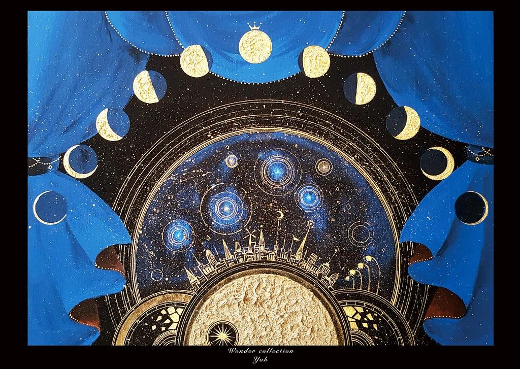 A2ポスター・満月の街