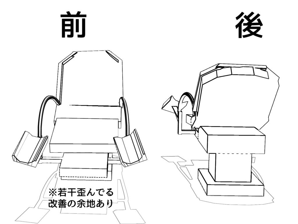 分娩台 3Dモデル(アタリ用) ver0.01