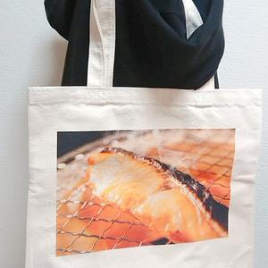 焼き鮭トートバッグ
