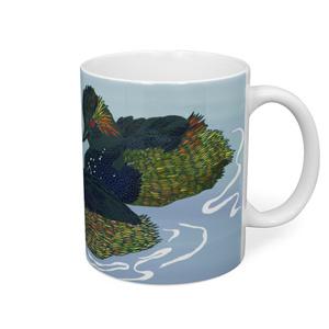 ハジロカイツブリのマグカップ