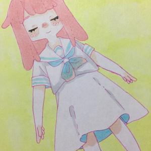 メンダコちゃん2ミニ色紙
