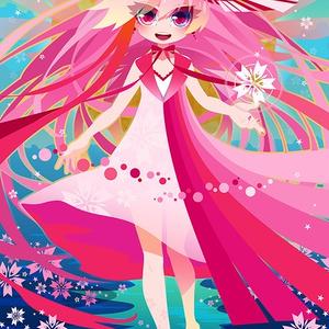 ポストカード『月夜、桜鳴く』