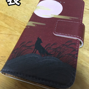 【iPhone用】影狼ちゃんモチーフ手帳スマホカバー