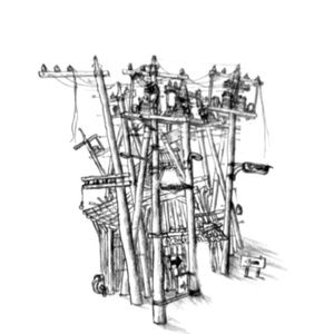 No.0『電柱。』