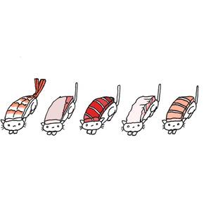 No.244『寿司になったネコ。』