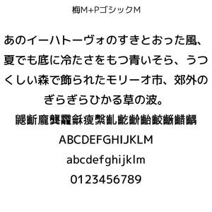 梅M+ゴシックM