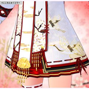 【VRoid用】巫女風コスチュームVer2メイン4色+6色セット