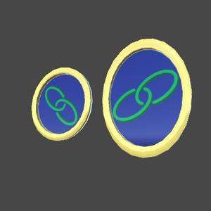 かんたんに模様が差し替えられるバッジ(VRChat想定アクセサリ)v1.02