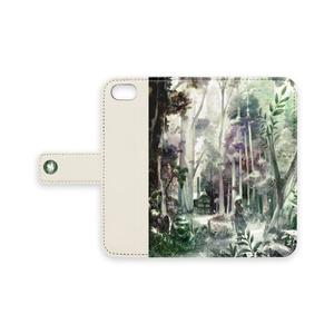 手帳型iPhoneケース「はじまりの森」/ iPhone case Notebook belt type