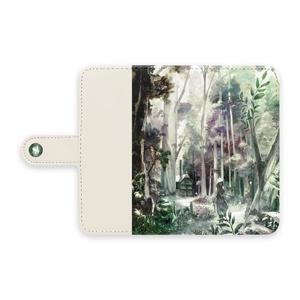 手帳型Androidケース「はじまりの森」/ Android case