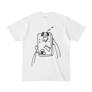 こわれ犬Tシャツ「おじゃまします」