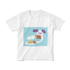 こわれ犬Tシャツ「唐揚げもどき」