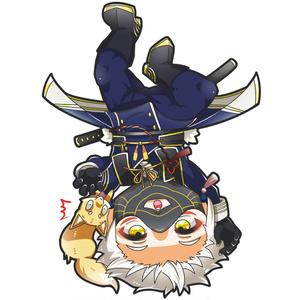逆さ吊り刀剣男子 鳴狐