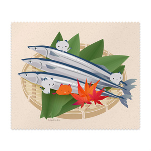 ねこまんまクリーニングクロス:秋刀魚