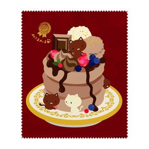 ねこまんまクリーニングクロス:ショコラパンケーキ