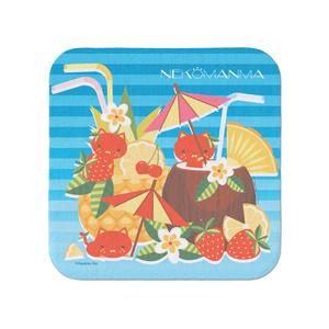 ねこまんまタオル(小):トロピカルバカンス