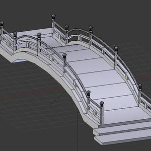 太鼓橋 3Dモデル