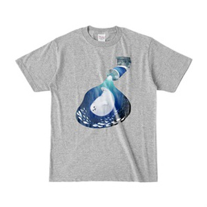 絵の具 あざらしブルー Tシャツ