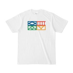 透かしブロックTシャツ「四季」