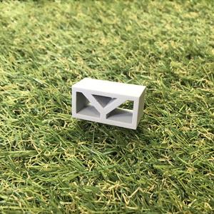 【ミニチュア】透かしブロック「Y」4個セット