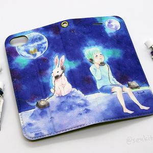 Moon & Rabbit iPhone case