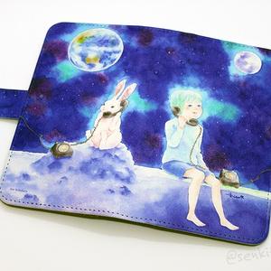 Moon & Rabbit iPhone case (Android対応)