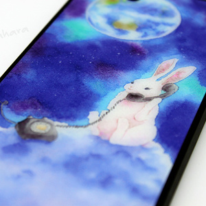 Moon & Rabbit iPhone case (Tempered glass)