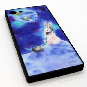 月とウサギのiPhoneケース(強化ガラス)