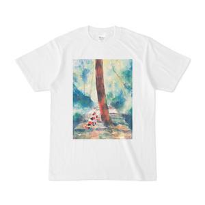 木と語る猫Tシャツ(Cat and tree T-shirt)