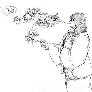 京さんの花タバコポーチ