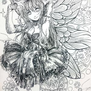 【原画一点物】ポストカード(妖精)