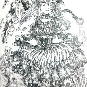 【原画一点物】ポストカード(マリー[不思議の国])