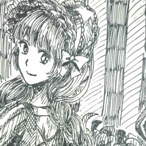【4枚セット】ポストカード(おさげの女の子)
