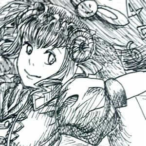 【4枚セット】ポストカード(ルディ[不思議の国])
