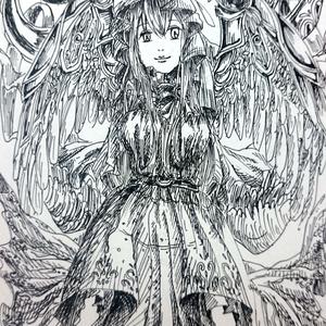 【原画一点物】ポストカード(2対の翼)